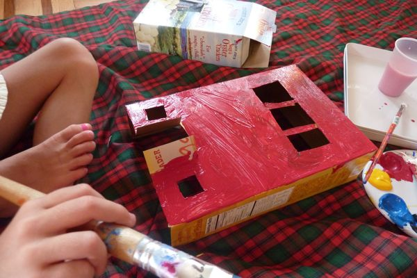 Cereal Box House Designs on cardboard box house, cracker box house, making house, waffle box house,