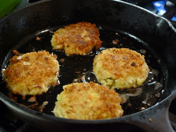 ... now make these and eat them risotto cakes risotto cakes with lemon and