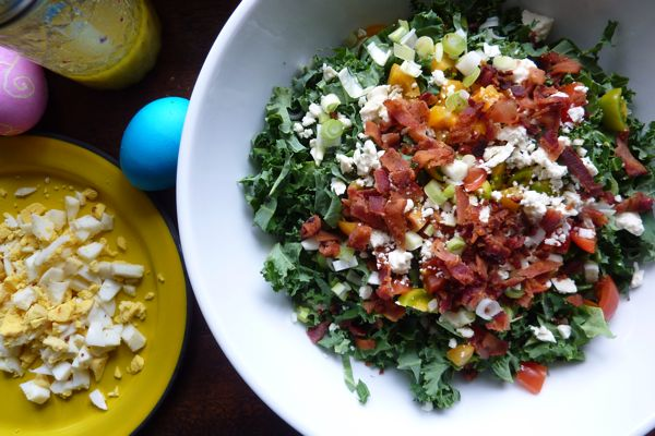 Shredded Kale Salad With Pancetta And Hard-Cooked Egg Recipe ...