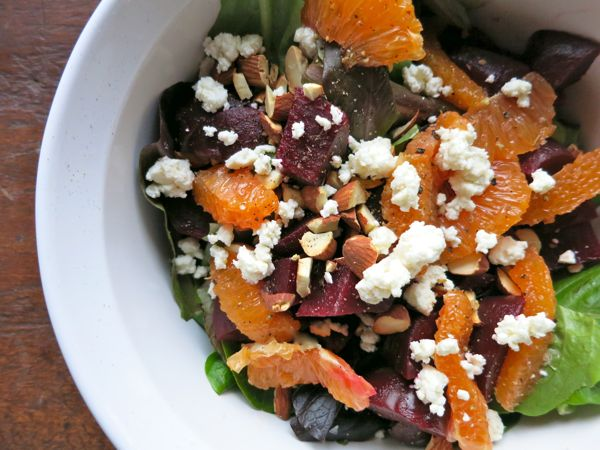 Beet, Orange, Feta salad with mint from Dinner a Love Story.