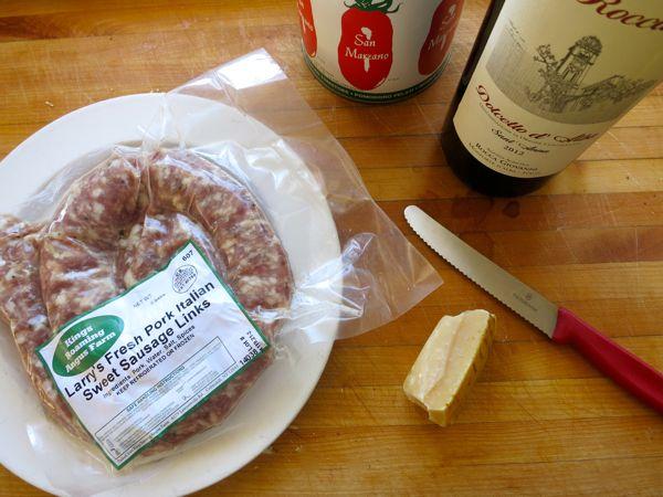 sausage bolognese ingredients