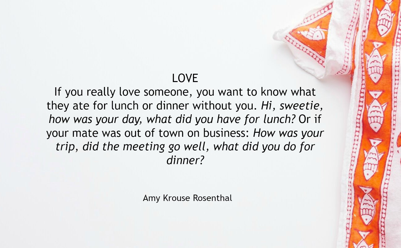 Love Story Quotes Dinner A Love Story Amy Krouse Rosenthal 19652017  Dinner A