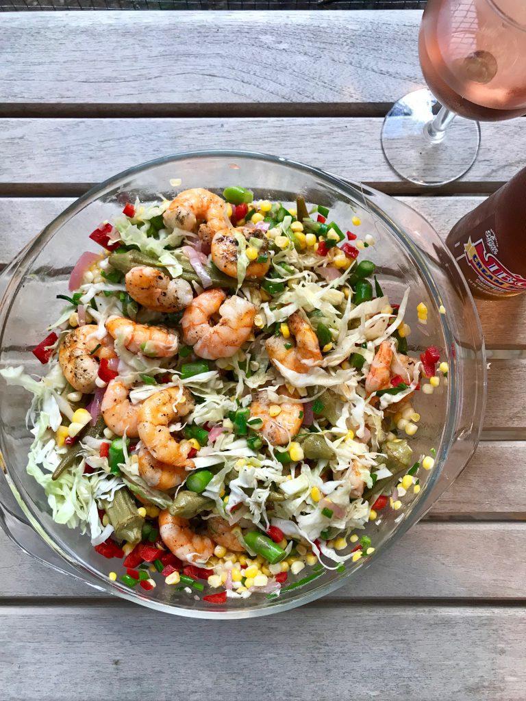 Grilled Shrimp Salad with Pickled Vegetables